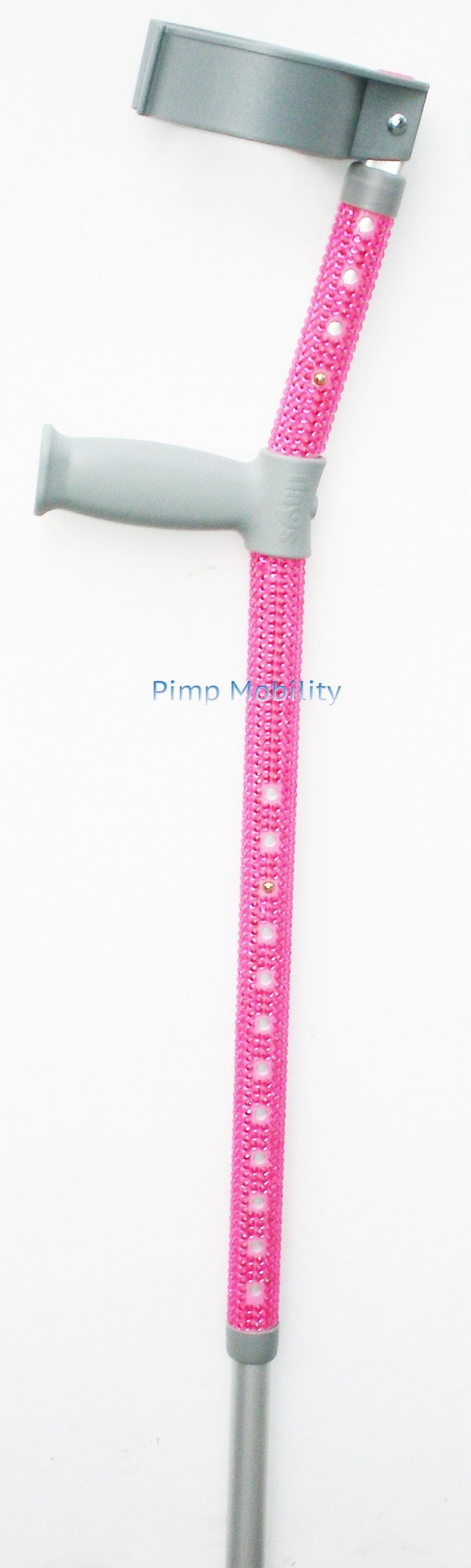 Pink Standard Crutch with Pink Diamantes