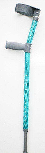 Turquoise Standard Crutch With Full Turquoise Diamantes